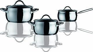 Mepra 30140006 Piece Deluxe Cookware Set, 6 PC, Silver