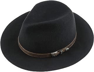 Unisex Felt Fedora 100% Merino Wool Panama Hats Wide Brim Hat