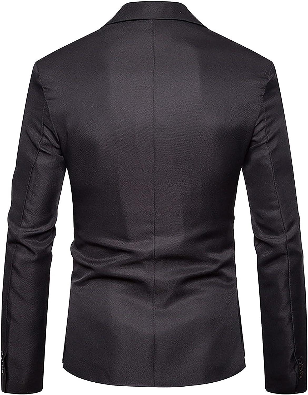 Mens Business Office Blazer Casual Slim Fit One Button Suit Sport Coat Lightweight Jacket Coat Dinner Suit Separate