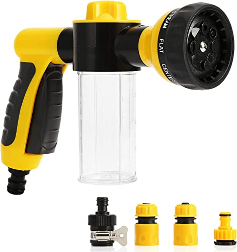high quality Car Wash Foam Sprayer, Garden Hose Spray Nozzle Car Wash Foam popular Gun with Quick Connectors to Any Garden Hose, 8 Modes Adjustable Hose Water Blaster for Car Washing, outlet online sale Plants Watering and Pets Showering sale