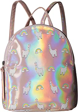 All Over Llama Rainbow Backpack