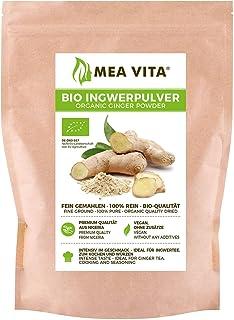 MeaVita Polvo de Jengibre Orgánico 100% Puro, 1 Paquete (1 x 250 g)