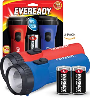 EVEREADY LED Flashlight Multi-Pack, Bright and Durable, Super Long Battery Life, Use for..