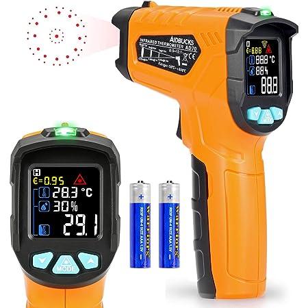 Infrarot Thermometer Ad70 Ir Laser Digital Thermometer 50 C Bis 800 C Kontaktfreies Mit Farbe Lcd 12 Punkte Laserkreis Farbbildschirm Alarmfunktion Bei Über Unterschreitung Der Temperatur Gewerbe Industrie Wissenschaft