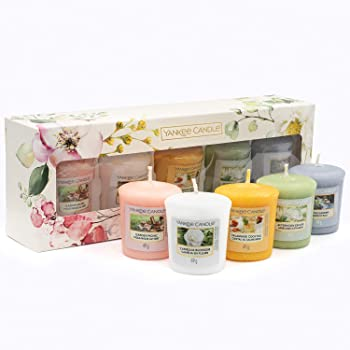 Yankee Candle Gift Set, 5 Votive Scented Candles, Garden Hideaway Collection