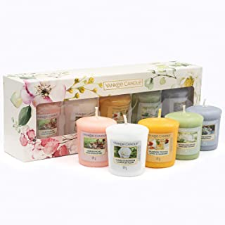 Yankee Candle Gift Set, 5 Votive Scented Candles, Garden