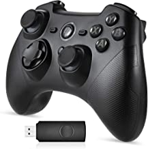 Mando Inalámbrico, [Regalos] EasySMX 2.4G Wireless Gamepad, Controller Wireless Incorporado Bateria con Vibración Dual y TURBO para Windows/PS3/Android/Tablet / PC / TV o TV Box, Joystick Inalámbrico