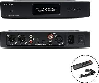 Topping D70 HiFi Balanced DAC XMOS XU208 AK4497 OPA1612 DSD512 32Bit/768KHz USB/Optical/Coaxial/AES/IIS Audio Decoder with Remote Control(Black)