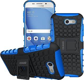 OEAGO Samsung Galaxy J3 Emerge / J3 Prime / J3 Eclipse / J3 2017 / J3 Luna Pro / J3 Mission/Sol 2 / Amp Prime 2 / Express Prime 2 Case, Tough Rugged Dual Layer Case with Kickstand (Blue)
