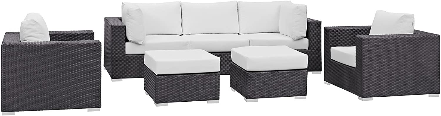 Modway Manufacturer regenerated product specialty shop Convene Collection 7-Piece Outdoor Patio in Set Sectional