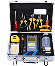Genneric 29pcs/set FTTH Cold Splice fiber Tool Kit with FC-6S Fiber Cleaver and Optical Power Meter 10mW Visual Fault Locator tester