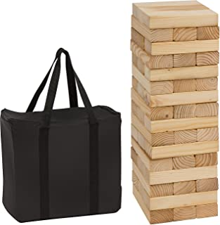 48Piece 1.5'Tall Giant Wooden Stacking Puzzle Game with Carry Case by Trademark Innovations