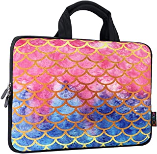 ICOLOR 9.7 10 10.1 10.2 inch Neoprene Tablet Bag Sleeve Carring Case Cover with Handle for 9.7 to 10.2 Inch Laptops Notebo...