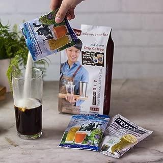 MezzoX Healthy 100% Thai Drip Coffee + Milk Powder, Sim To Vietnamese, NO Hassle / TRANS FAT / Condensed Milk ! Super Easy DIY Set 9.9oz (5 Serv's): Authentic Taste, Premium Quality. Thailand Product