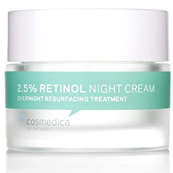 Amazon.com: Cosmedica Skincare Retinol Night Cream - Daily Moisturizing  Facial Lotion Night Cream. The best Retinol Cream with Vit A and Hyaluronic  Acid to target skin concerns from Acne to Wrinkles (1.7oz):
