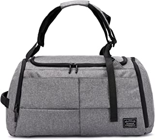3-Way Travel Duffel Backpack,Anti Theft Luggage Sports Bag with Shoe Compartment