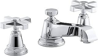 KOHLER K-13132-3A-CP Pinstripe Pure Widespread Lavatory Faucet, Polished Chrome