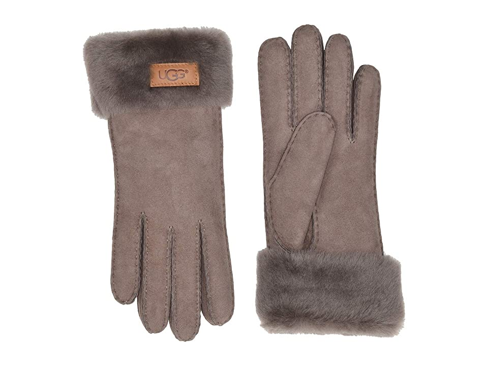 UGG Turn Cuff Water Resistant Sheepskin Gloves (Stormy Grey) Extreme Cold Weather Gloves