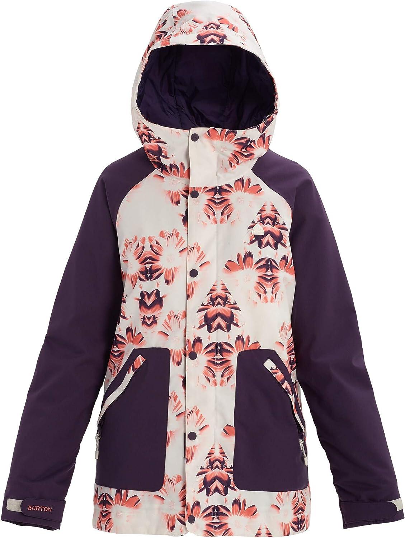 Burton Women's Eastfall Jacket, Stout White Stylus Purple Velvet, Large