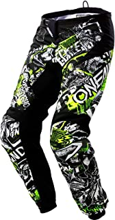 O'Neal Unisex-Adult Element Attack Pant (Black/Hi-Viz, Youth Size 28)
