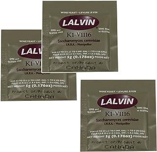 3x Lalvin ICV K1 V1116 Yeast White Wine 5g Sachet Homebrew Wine Making 4.5L-23L