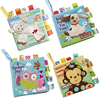 HanShe Baby Soft Book Cloth Book Set 4 Pack Crinkle Book...