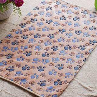 Glumes Soft and Comfortable Pet Blanket Paw Printing Warm Fleece Blanket Sleep Mat Pad Bed Cover Suitable for Puppy Dog Cat Ideal