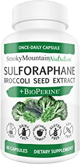 Sulforaphane Supplement 75mg with Myrosinase, Broccoli Seeds, Broccoli Sprouts & Mustard Seed Extract - 60 Capsules - Glucoraphanin SGS, Sulforaphane Glucosinolate - Anti-Inflammatory* & Antioxidant