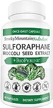 Sulforaphane Supplement 75mg with Myrosinase, Broccoli Seeds, Broccoli Sprouts & Mustard Seed Extract - 60 Capsules - Glucoraphanin SGS, Sulforaphane Glucosinolate - Anti-Inflammatory* & Antioxidant