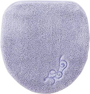 セシール トイレふたカバー ラベンダー系 特殊型 エレガンス 抗菌防臭 ふかふか トイレ用品 CG-177