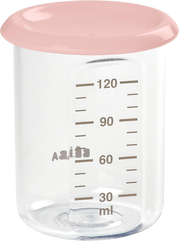 BEABA - Potito de conservación para la comida del bebe, con tapa, 120 ml, Nude