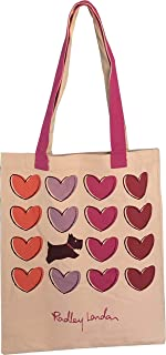 Radley Radley Einkaufstasche aus Segeltuch mit der Aufschrift Love Me Always, wiederverwendbar, Pink