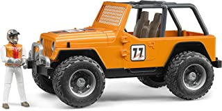 Bruder Jeep Cross Country Racer Orange with driver Toy Vehicle