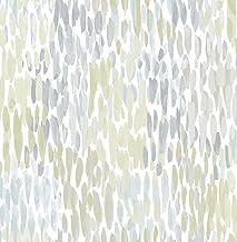 NuWallpaper NU2876 Make It Rain Blue/Green Peel and Stick Wallpaper