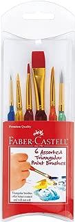 Faber-Castell Triangular Paint Brush Set - Assorted Sizes - Paintbrushes for Kids