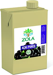 Zola Brazilian Superfruits Açaí Berry Puree 46 Ounce Boxes (Pack of 6)