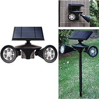 Outdoor Solar Light, Motion Sensor Security LED Light Dusk to Dawn Wireless, 2-in-1 Solar Powered Landscape Spot Lights Waterproof for Yard Driveway Lighting, Egreat (Black, Solar PIR Spotlight)