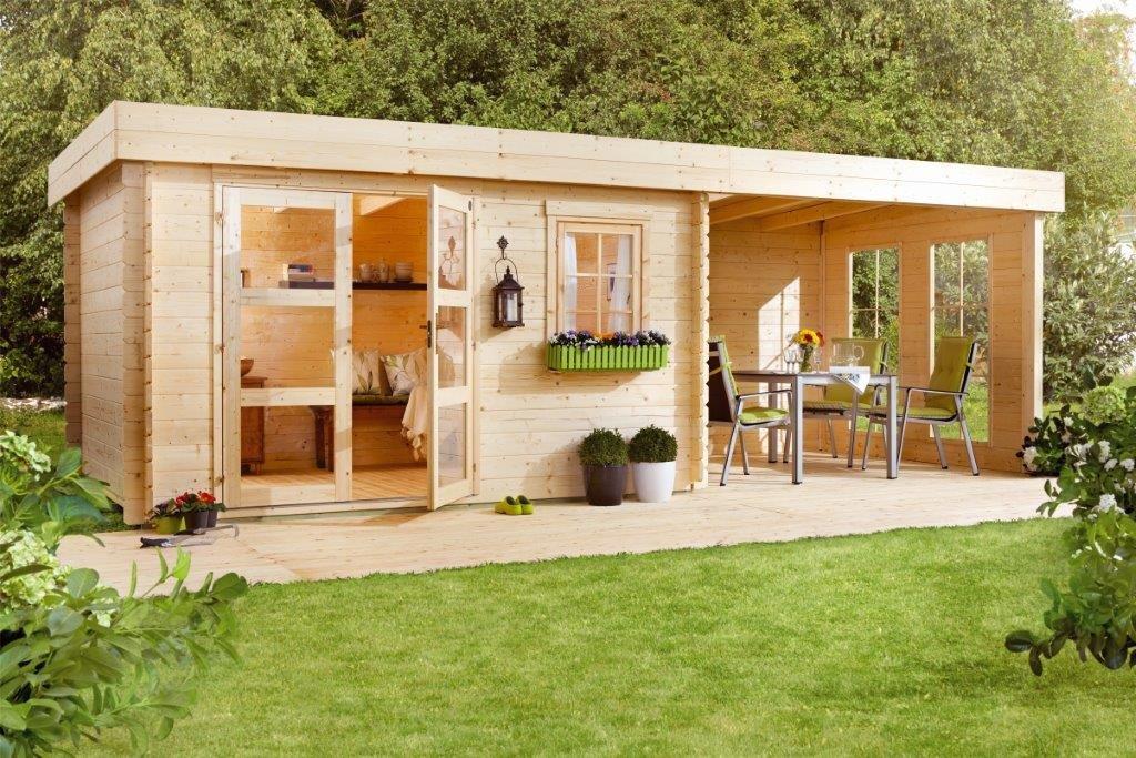 Lillevilla 283 Luoman Caseta de jardín, 28 mm, 8, 5 m², 340 x 250 cm, Toldo 240 cm, con separadores de veda: Amazon.es: Jardín