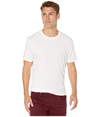RVCA Solo Label Short Sleeve T-Shirt (Antique White) Men