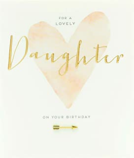 UK Greetings Daughter Birthday Card - Birthday Card for Her - Gold Lettering and Gold Arrow Attachemnt, 602431-0-1