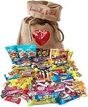 The Best of British Retro Candy Assortment 100 pcs / 2.2 pound in Basically British Burlap Bag (Standard)