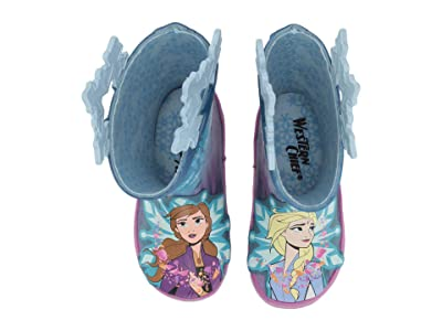 Western Chief Kids Frozen Fearless Sisters Rain Boot (Toddler/Little Kid/Big Kid) (Turquoise) Girls Shoes