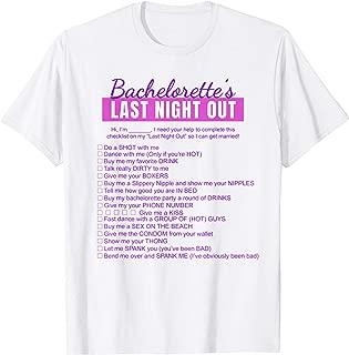 Bachelorette Scavenger Hunt Checklist T-Shirt