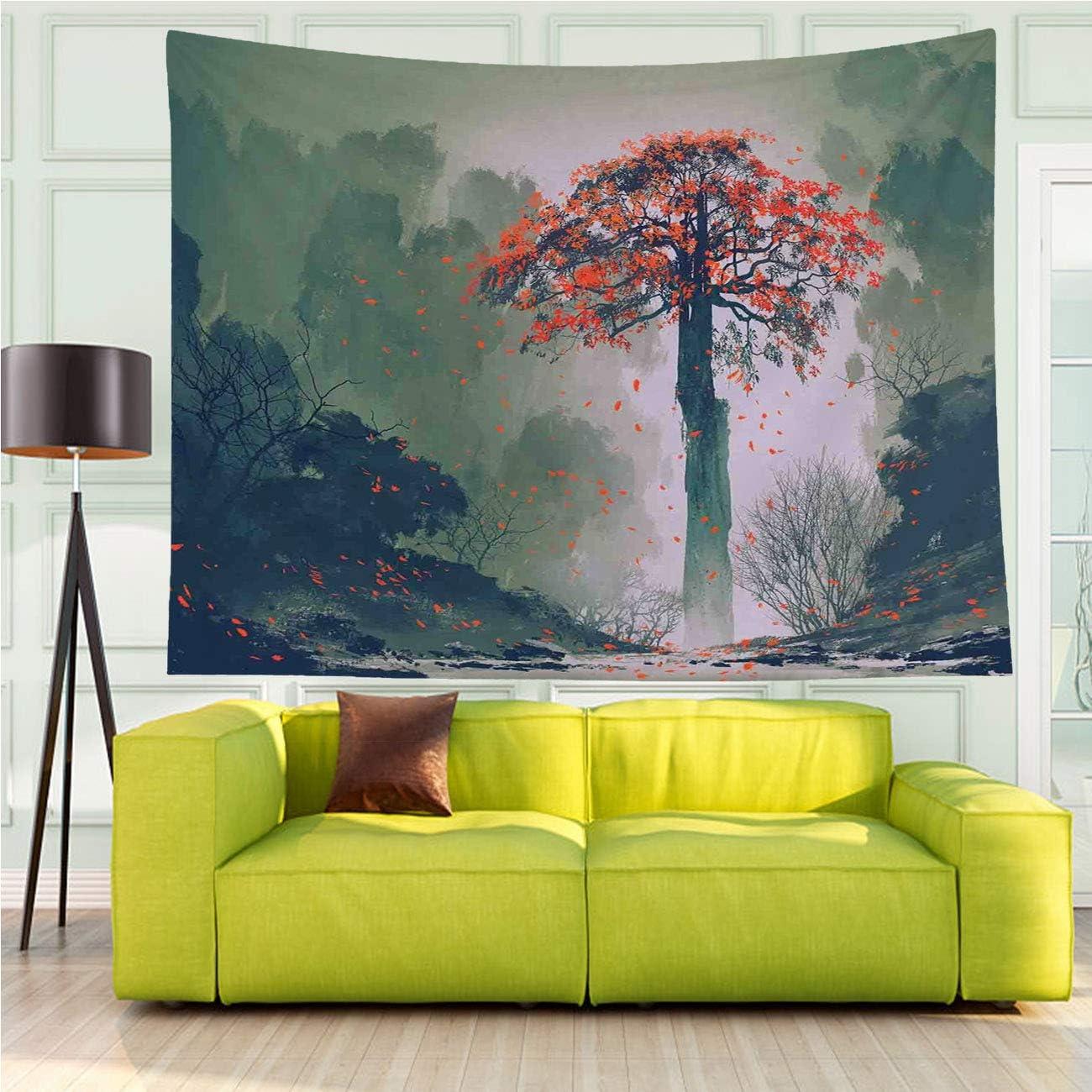 Forest Tapestry Wall Hanging Versatile 正規品スーパーSALE×店内全品キャンペーン Autumn Lonely ブランド買うならブランドオフ Fantasy Tre