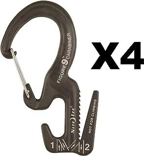 Nite Ize Figure 9 Carabiner Small Rope Tightener Aluminum Tie Down Tool (4-Pack)
