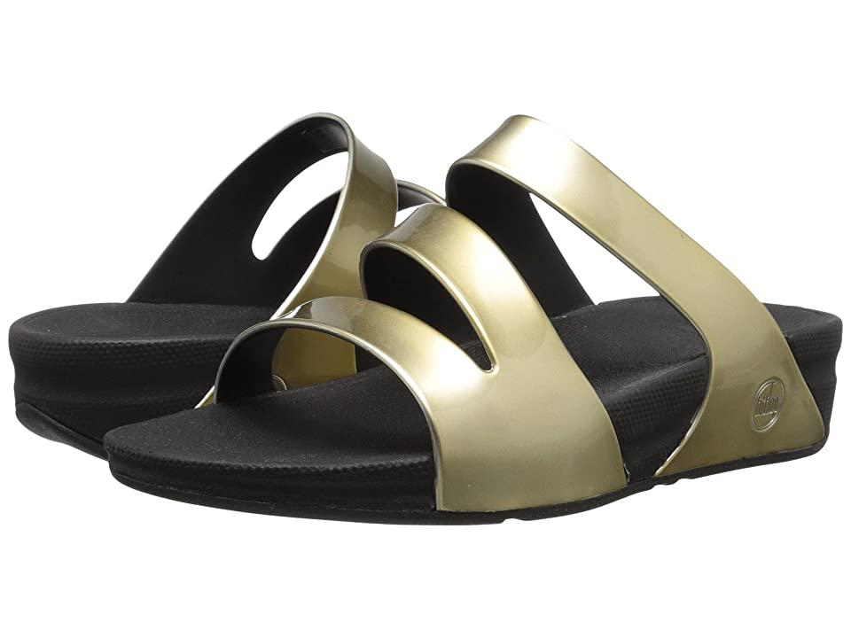 FitFlop Superjelly Twist Metallic (Gold Mirror) Women