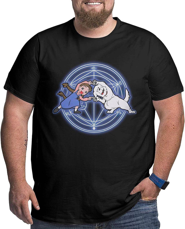 Fullmetal Alchemist Fullmetal Fusion Male Shirt Casual Short Sleeve Plus Size Cotton T-Shirt