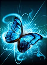 DIY 5D Diamond Painting Kit for Adults Children Beginners Butterfly Pattern Full Drill Diamond Painting Embroidery Cross P...