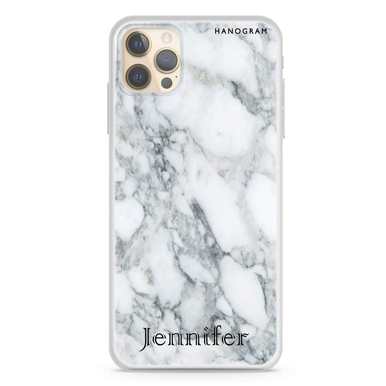Powder Gray And White Marble II iPhone 12 Soft Clear Max Pro Cheap mail order sales Sales results No. 1 Cas