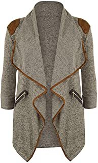 JESPER Womens Winter Knitted Casual Long Sleeve Waterfall Collar Cardigan Jacket Outwear
